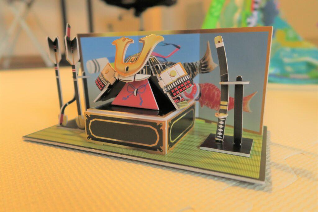 ダイソーの五月人形「こどもの日3Dパズル 組立兜(くみたてかぶと)」がすごい‼