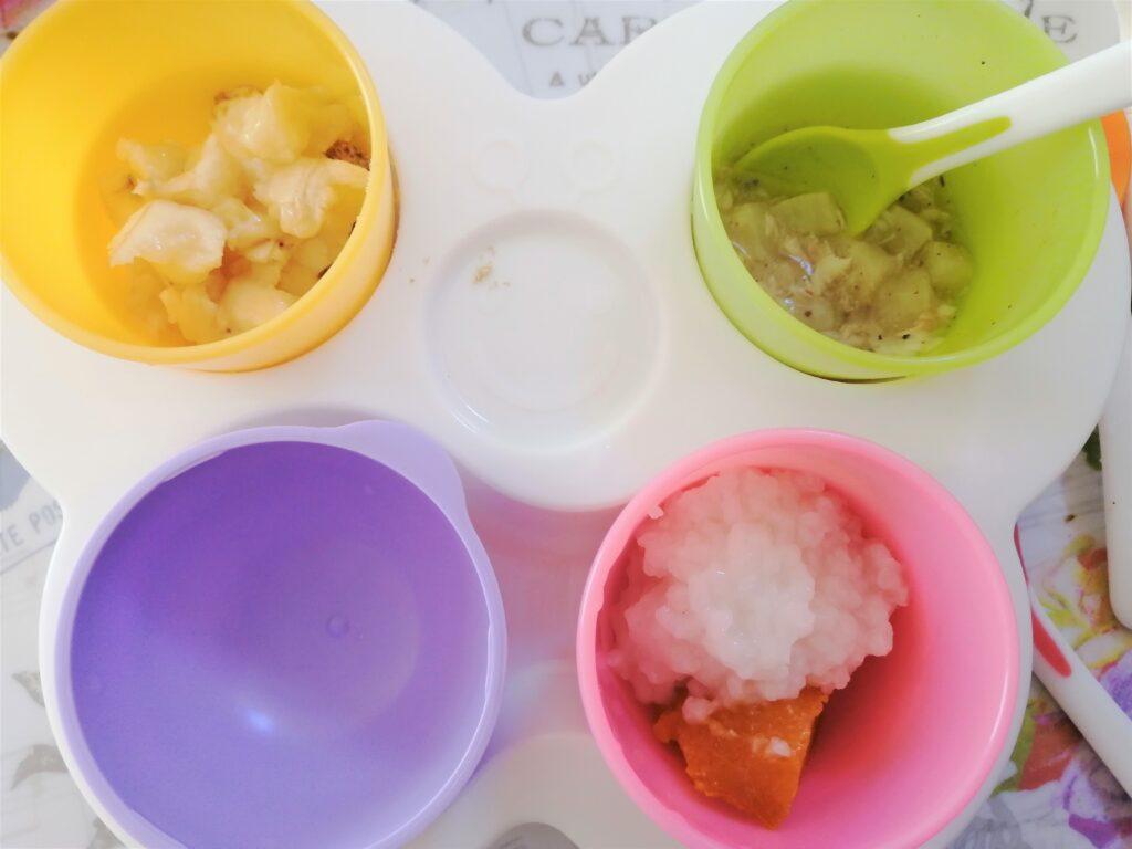 【モグモグ期】便利な離乳食グッズとストック食材の作り方
