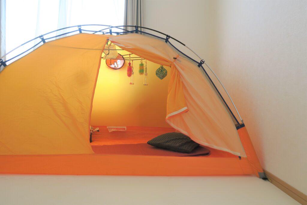 ハイハイが出来るようになりました!おうちテントで遊ぼう♪